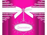 Hot Pink Quinceanera Invitations Diamonds Bow Hot Pink Quinceanera Invitation Zazzle