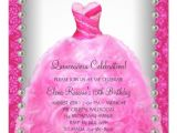 Hot Pink Quinceanera Invitations Elegant Hot Pink Quinceanera Invitation Zazzle