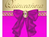 Hot Pink Quinceanera Invitations Hot Pink Quinceanera Custom Invitation Zazzle