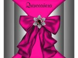 Hot Pink Quinceanera Invitations Hot Pink Quinceanera Hot Pink Birthday Party Personalized