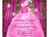 Hot Pink Quinceanera Invitations Hot Pink Rose Quinceanera 5 25 Quot Square Invitation Card