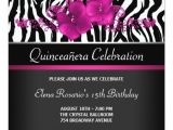 Hot Pink Quinceanera Invitations Hot Pink Zebra Quinceanera Invitations Zazzle