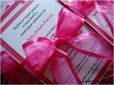 Hot Pink Quinceanera Invitations Quinceanera Invitation Hot Pink and White Sweet 16 and