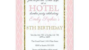 Hotel Party Invitation Template Hotel Party Invitation Zazzle Com