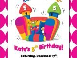 House Party Invitation Template Bounce House Birthday Invitations Template Best Template