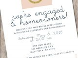 Housewarming and Engagement Party Invitations Engagement Party Invitation Housewarming Party by