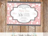 Housewarming Bridal Shower Invitations Gray and Light Blush Pink Couples Shower Bridal Shower