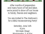 Housewarming Party Invitation Wording for Gifts Neighborhood Housewarming Party Invitations
