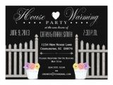 Housewarming Party Invitation Wording for Gifts Picket Fence Housewarming Party Invitation Zazzle