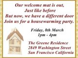 Housewarming Party Message Invite the Most Pleasantly Perfect Housewarming Invitation