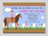 How to Invite for Birthday Party Birthday Invitations Free Printable Horse Birthday