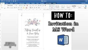 How to Make A Wedding Invitation Template On Microsoft Word How to Make An Invitation In Microsoft Word Diy Wedding
