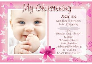 How to Make Baptismal Invitation Baptism Invitations Free Baptism Invitation Template