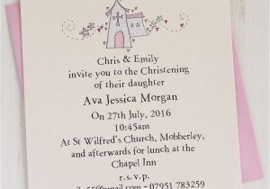 How to Make Baptismal Invitation Personalised Christening Invitation Pack by Eggbert