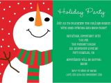 How to Make Christmas Party Invitations Snowman Holiday Christmas Party Invitations