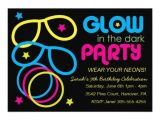 How to Make Glow In the Dark Party Invitations Glow In the Dark Birthday Party Invites 5 Quot X 7 Quot Invitation