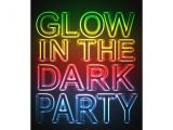 How to Make Glow In the Dark Party Invitations Glow Party Glow In the Dark Birthday Party 5×7 Paper