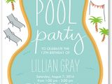 How to Make Pool Party Invitations 18 Birthday Invitations for Kids Free Sample Templates