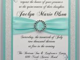 How to Make Quinceanera Invitations at Home Diy Print at Home Aqua Quinceanera Sweet 16 by Invitebling
