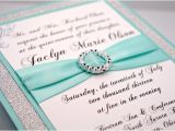 How to Make Quinceanera Invitations at Home Diy Print at Home Aqua Quinceanera Sweet 16 Invitation