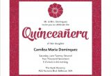 How to Make Quinceanera Invitations at Home Modern Pink Faux Glitter Quinceanera Invitation