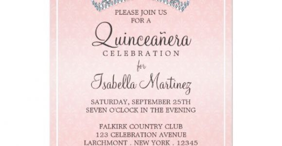 How to Make Quinceanera Invitations Glam Tiara Quinceanera Celebration Invitation Zazzle Com
