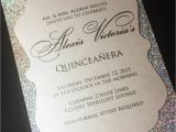 How to Make Quinceanera Invitations Quinceanera Invitation Sweet 16 Invitation Glitter