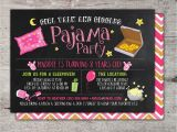 How to Make Slumber Party Invitations Slumber Party Invitation Girls Slumber Party Invitations