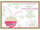 How to Make Slumber Party Invitations Slumber Party Invitations Sleepover Invitations Popcorn