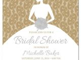 How to Write Bridal Shower Invitations Gold Bridal Shower Invitations Sansalvaje Com
