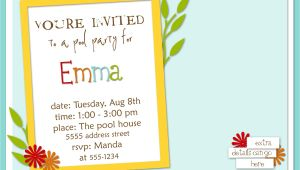 How to Write Party Invitations Examples How to Write A Birthday Invitation Eysachsephoto Com