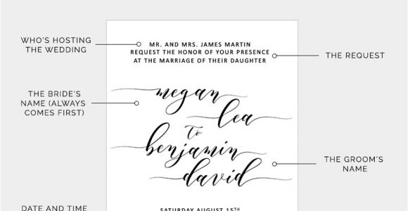 How to Write Time On Wedding Invitation How to Write Your Wedding Invitation Message Pipkin