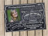 Hs Graduation Invitations Graduation Announcement College High School You Print Class