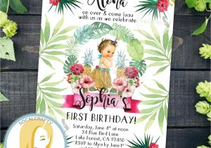 Hula Birthday Party Invitations Hula Birthday Party Invitation Hula Invitation Luau