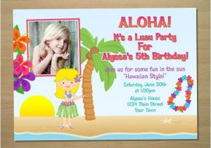 Hula Birthday Party Invitations Hula Girl Birthday