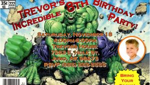 Hulk Birthday Invitation Template Incredible Hulk Birthday Invitations Ideas Free