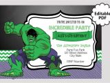 Hulk Birthday Party Invitation Template Editable Text Hulk Birthday Invitation Hulk Party Invites