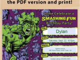 Hulk Birthday Party Invitation Template Free Printable Incredible Hulk Birthday Invitation