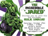 Hulk Birthday Party Invitation Template Hulk Birthday Party Invitation Template songwol