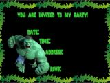 Hulk Birthday Party Invitation Template Ideias Para Festa Infantil Do Incrvel Hulk