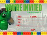 Hulk Birthday Party Invitation Template Nice Free Lego Hulk Birthday Invitation Template