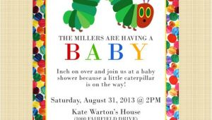 Hungry Caterpillar Baby Shower Invitations the Very Hungry Caterpillar Baby Shower Invitation Digital