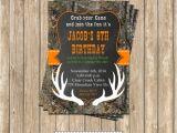 Hunting Birthday Party Invitations Camo Boy Hunting Deer 4 Birthday Party Printable Invitation