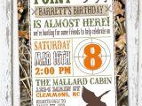Hunting Birthday Party Invitations Hunting theme Birthday Invitation by Meghilys On Etsy