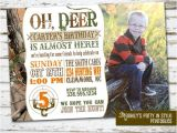 Hunting Birthday Party Invitations Hunting theme Birthday Invitation with Photo by Meghily