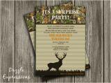 Hunting Birthday Party Invitations Printable Hunting Surprise Birthday Party Invitation