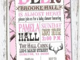 Hunting themed Baby Shower Invitations Hunting theme Sweet Lil Deer Baby Shower Invitation