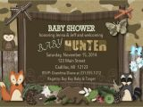 Hunting themed Baby Shower Invitations Woodland Baby Shower Invitation Fall Camo theme Baby Shower