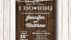 I Do Bbq Wedding Reception Invitations I Do Bbq Wedding Reception Invitation I Do Bbq Couples