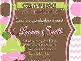 Ice Cream Baby Shower Invitations Girl Pickles & Ice Cream Baby Shower Invitation